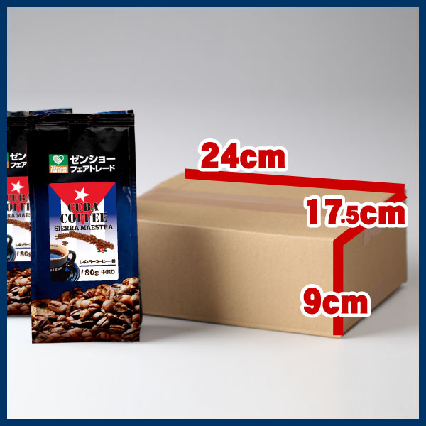 【定期購入】キューバ(レギュラー粉180g×2袋)ゼンショーフェアトレードコーヒー 【毎月お届け】【送料無料】【常温】