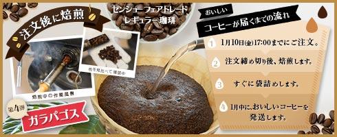 注文後焙煎コーヒーvol4 ガラパゴス