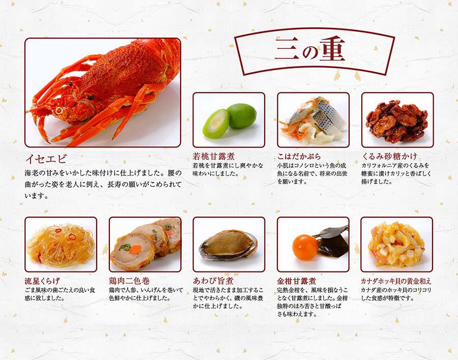 二の重紹介「2021はま寿司おせち 彩り三段重」
